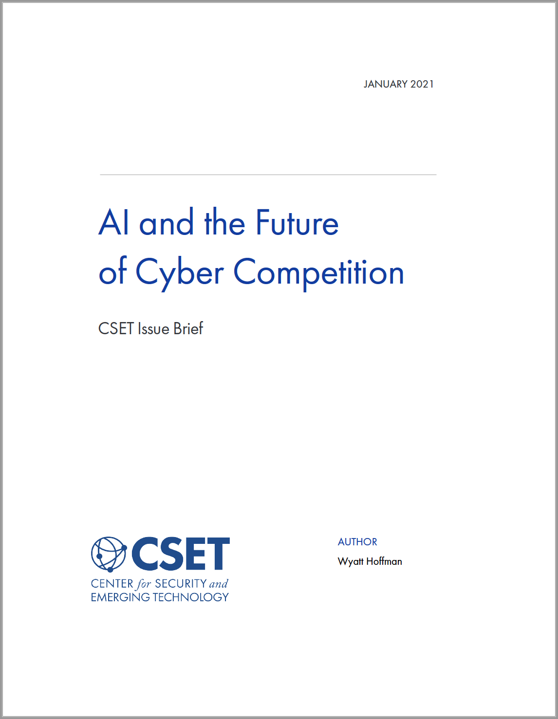 AI and the Future of Cyber Competition Image