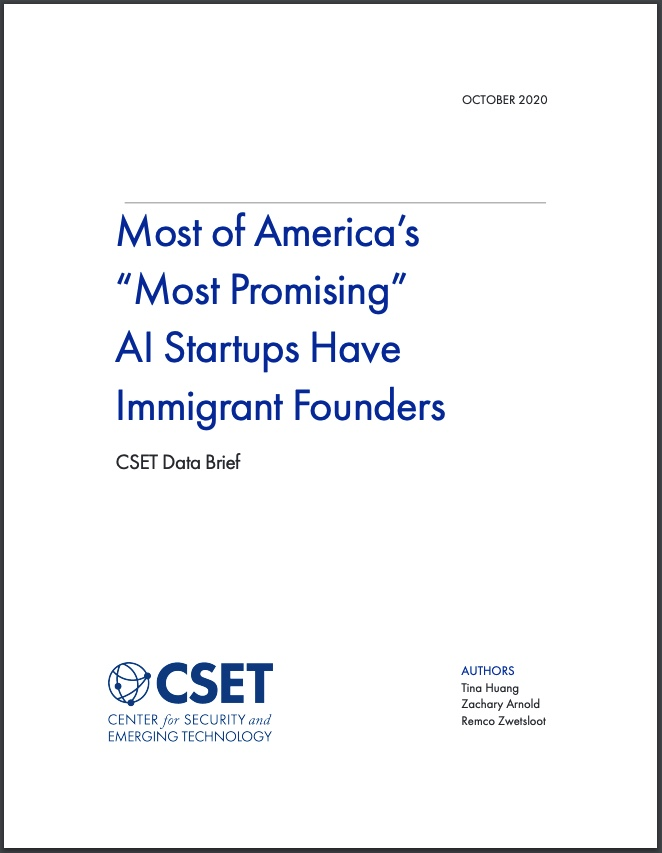 Immigrant Founders Report Cover