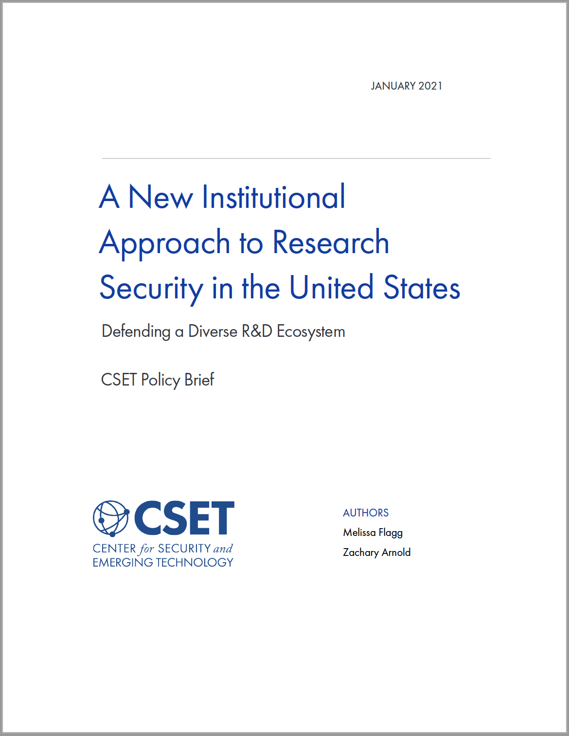 A New Institutional Approach to Research Security in the United States
