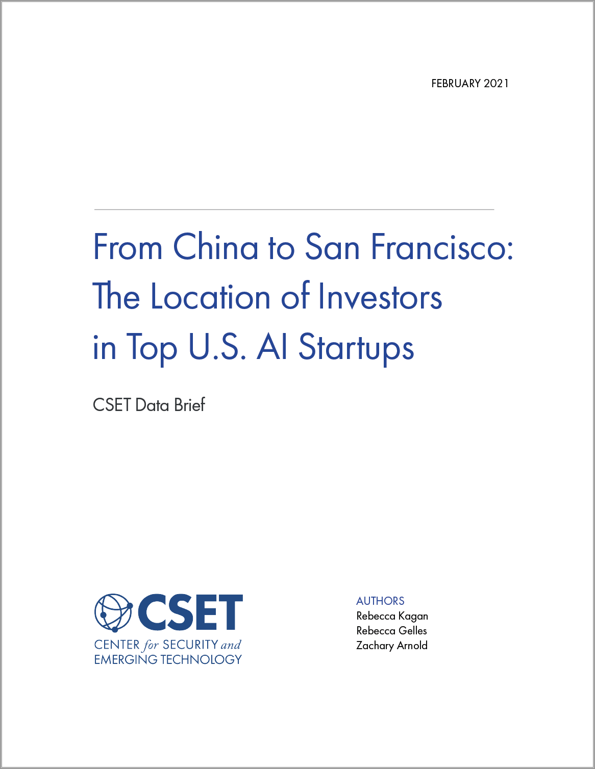CSET - From China to San Francisco- The Location of Investors in Top U.S. AI Startups Image