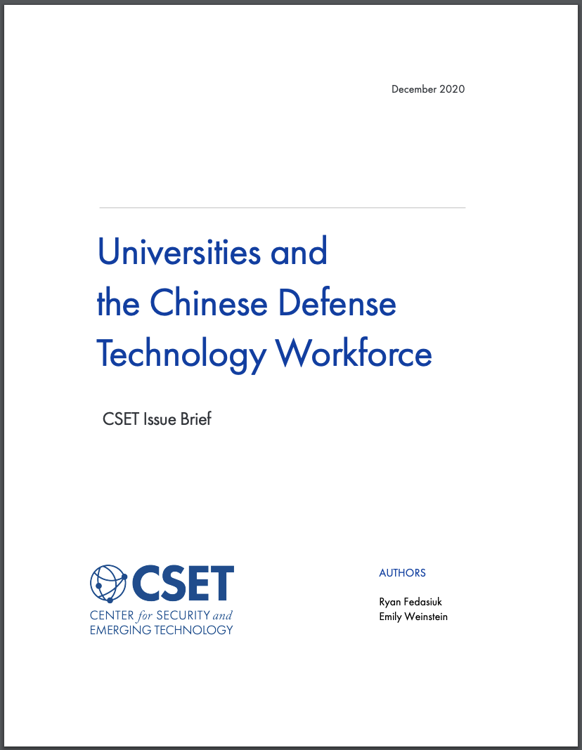 Universities and the Chinese Defense Technology Workforce