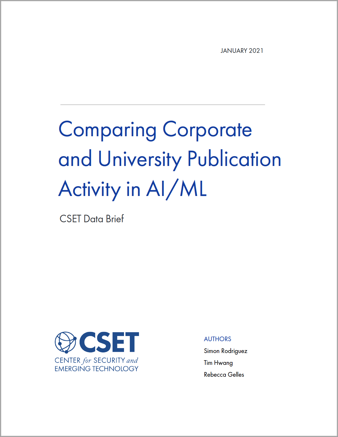 Comparing Corporate and University Publication Activity in AI-ML Image