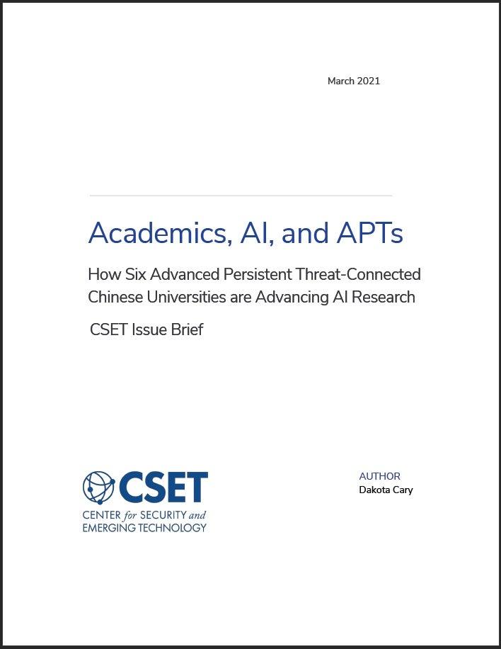 Cover Photo of Academics, AI, and APTs