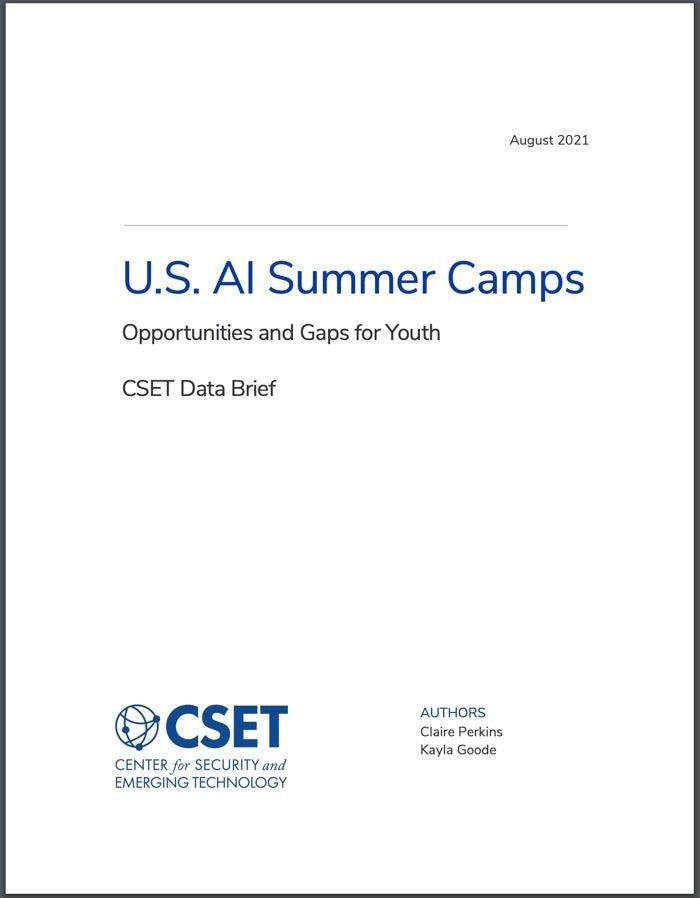 U.S. AI Summer Camps Cover Photo