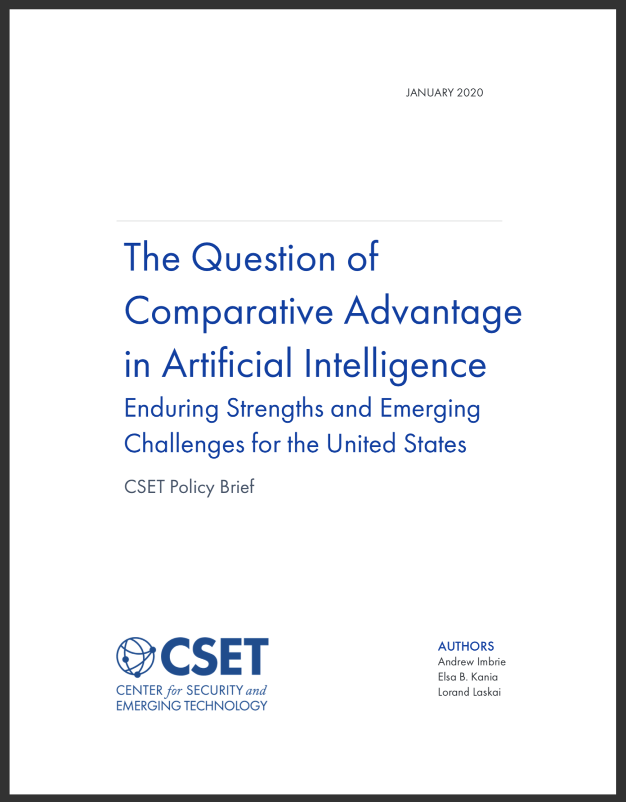 Comparative Advantages in AI