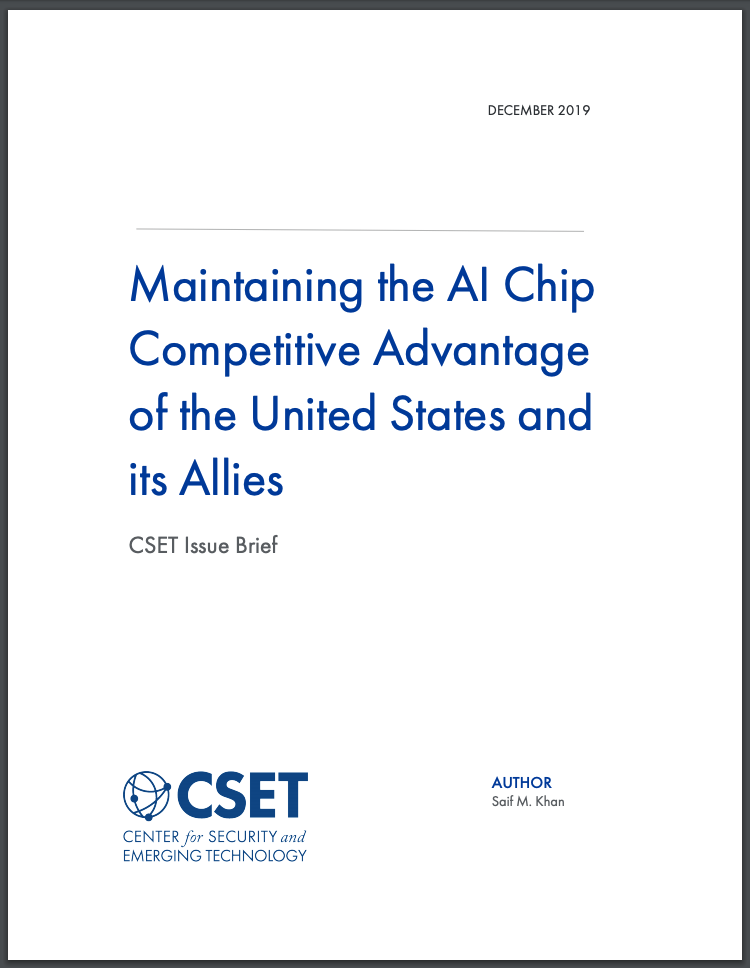 Maintaining the AI Chip Competitive Advantage Report Cover