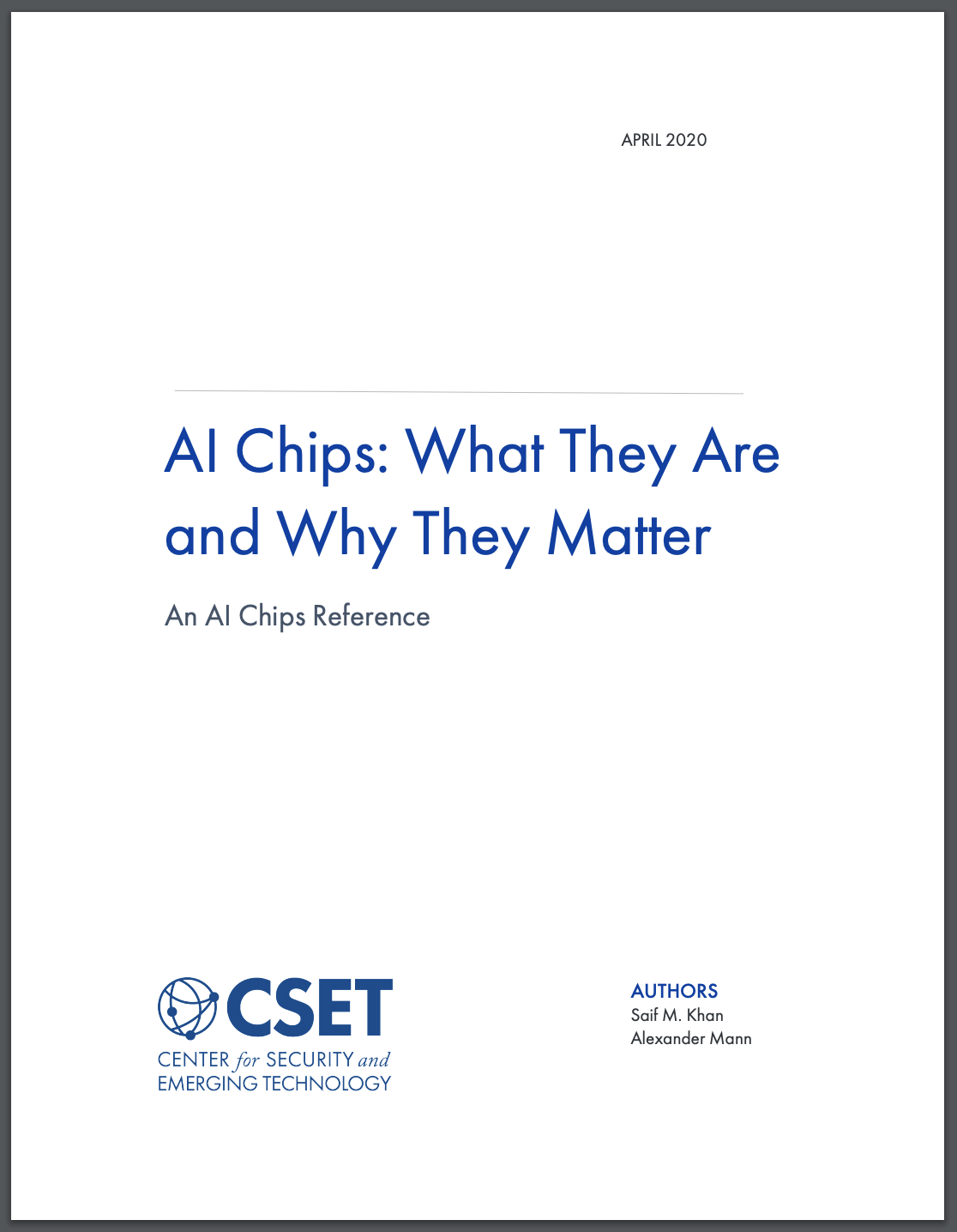 AI Chips Report Cover