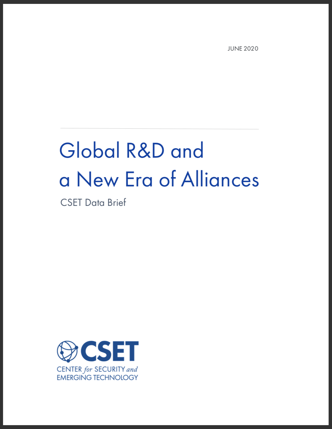 Global R&D Brief Cover