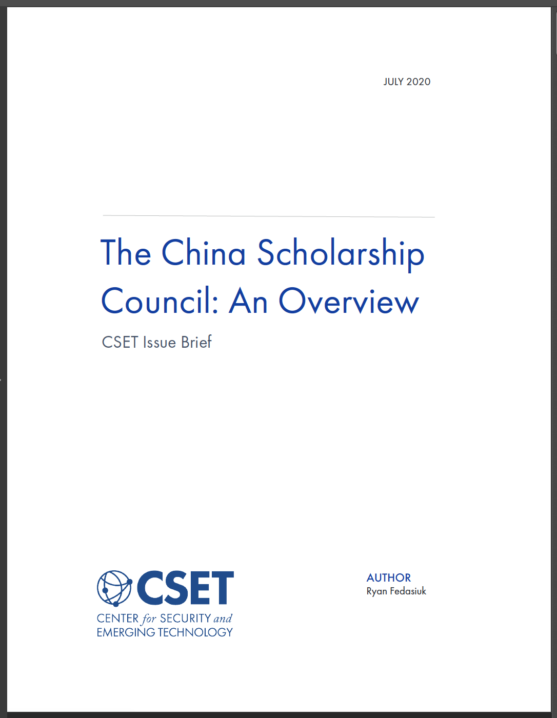 CSC Overview Cover
