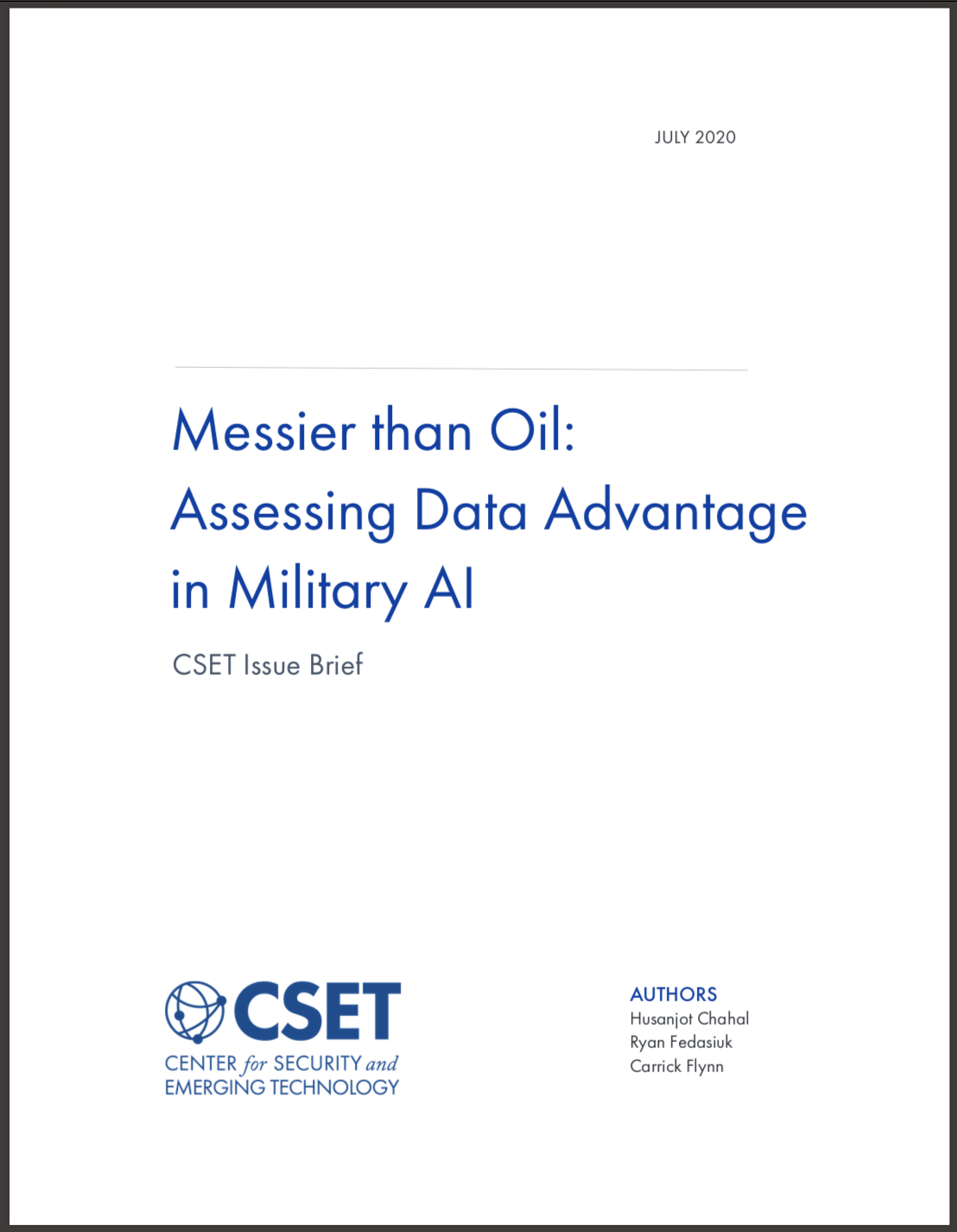 https://cset.georgetown.edu/research/messier-than-oil-assessing-data-advantage-in-military-ai/