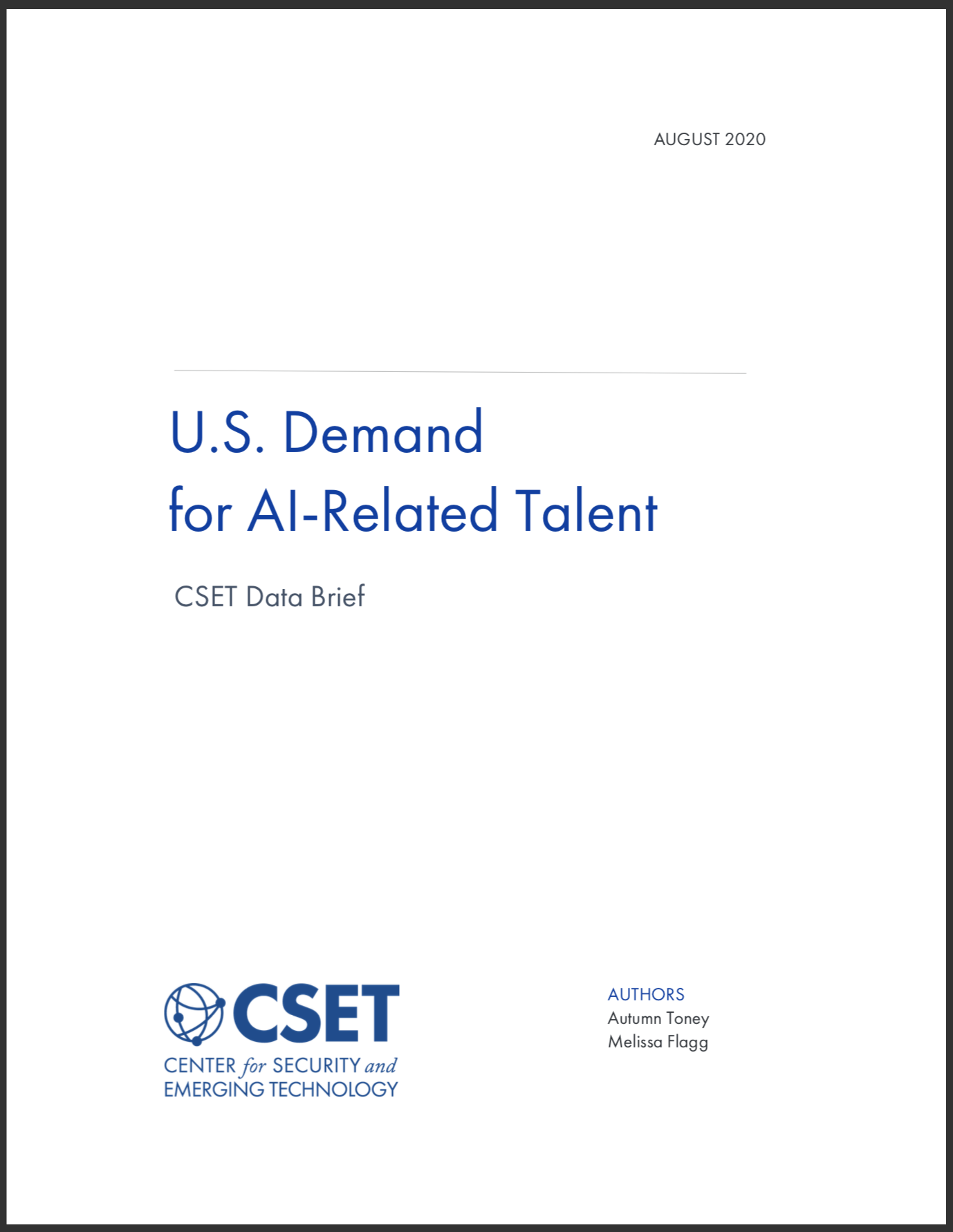 U.S. Demand for AI-Related Talent Brief Cover
