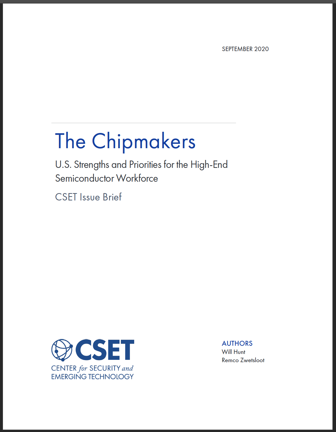 Chipmakers Report Cover
